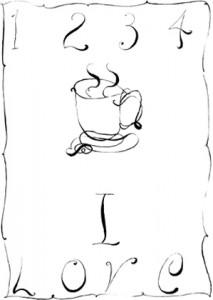 Matt Mullican - Coffee 1-7, 2009.