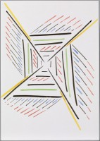 Tomma Abts, Untitled, 2012. (unique watercolour on paper)