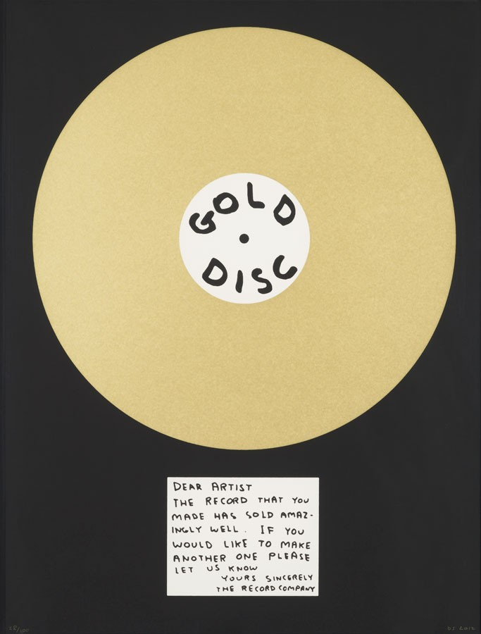 David Shrigley, Gold Disc, 2012.