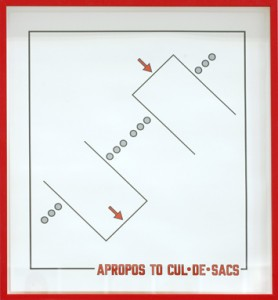Lawrence Weiner, Apropos to cul-de-sacs, 2009.