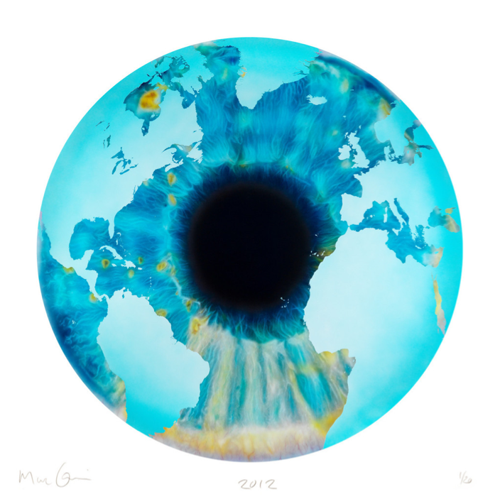Marc Quinn, The Eye of History (Atlantic Perspective) Points of Continent, 2012.