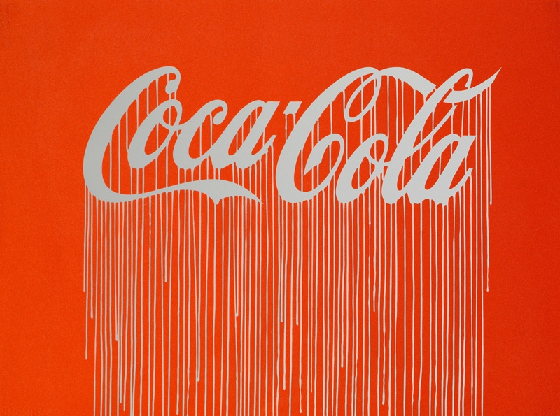 Zevs, Liquidated Coca-Cola (Luminescent Print Edition), 2012.