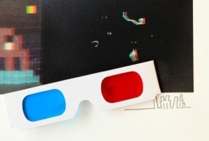 Invader, Art4Space 3D, 2013. (detail)