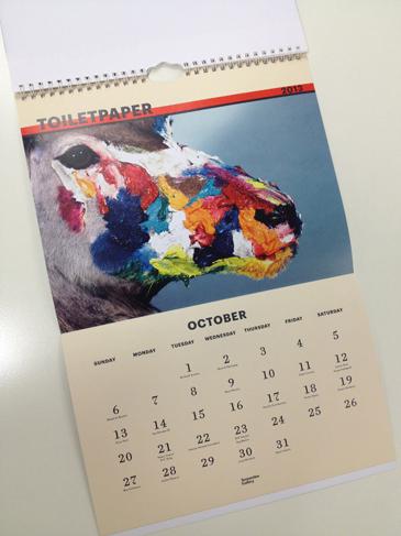 Maurizio Cattelan and Pierpaolo Ferrari, Serpentine Gallery Calendar 2013, Taxidermy.