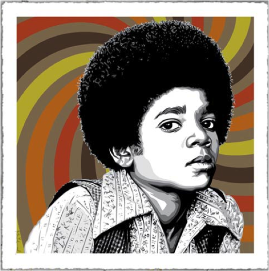 Mr Brainwash, Rock With You (brown), 2013.