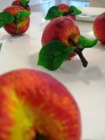 Piero Gilardi, (Spilla Mela) Apple Brooch, 2012.