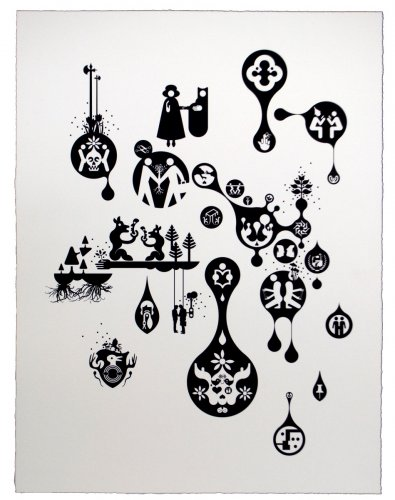 Ryan McGinness, Units of Meaning (4), 2012.