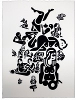 Ryan McGinness, Women (4), 2012.