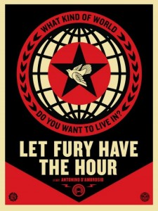 Shepard Fairey, Let Fury Have The Hour, 2013.