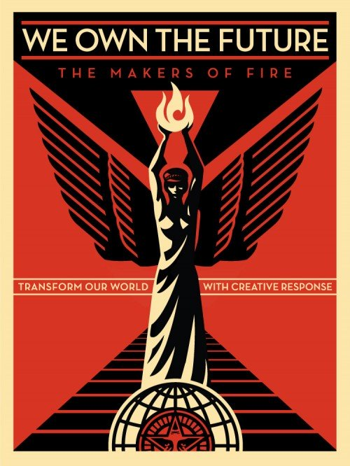 Shepard Fairey, We own the future, 2013.