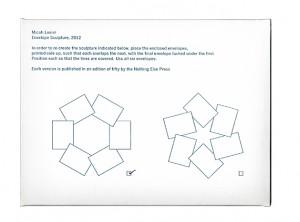 Micah Lexier, Envelope Sculpture, 2013.