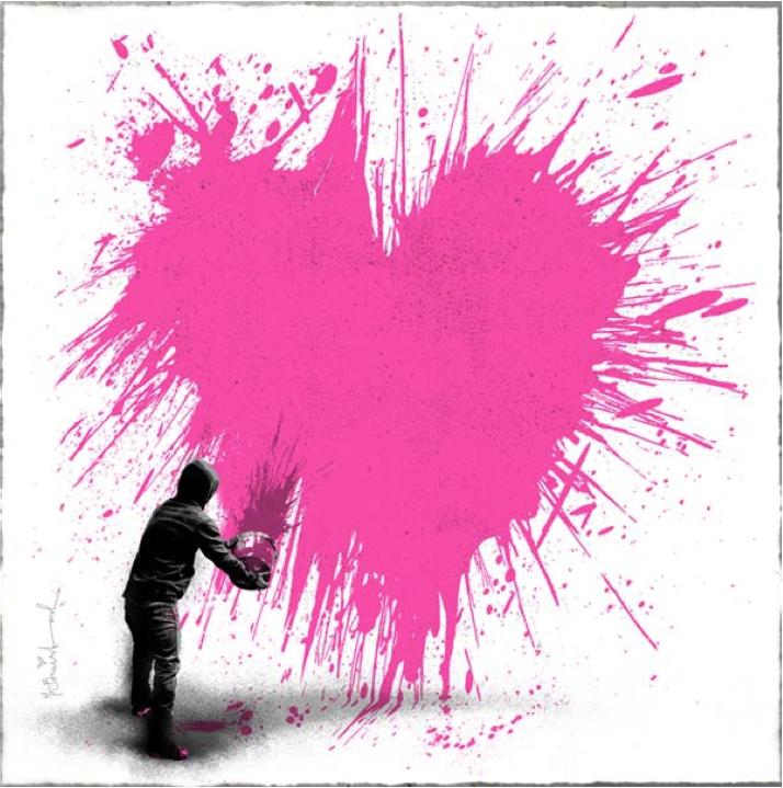 Mr Brainwash, Secret Admirer (pink), 2013.