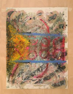 Oscar Murillo, Untitled (Viernes Sociale) n° 1, 2013.