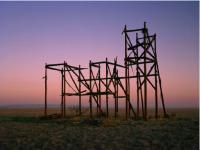 Teresa Hubbard and Alexander Birchler, Sunrise Filmset Sunset (1), 2013.