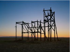 Teresa Hubbard and Alexander Birchler, Sunrise Filmset Sunset (2), 2013.