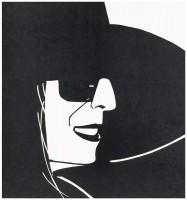 Alex Katz, Large Black Hat Ada, 2013.