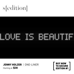 Jenny Holzer, One-Liner, 2012.
