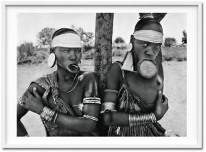 Sebastião Salgado, Two Mursi women, Mago National Park, near Jinka, Ethiopia, 2007-2013.