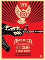 Shepard Fairey, God Saves & Satan Invests, 2013.