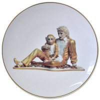 Jeff Koons, Banality Series, Michael Jackson and Bubbles plate, 2013.