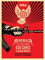 Shepard Fairey, God Saves & Satan Invests, 2013. (Lithograph)