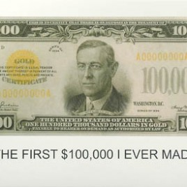This is what John Baldessari's first $100.000 looked like!