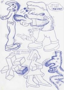 Peter Saul, Untitled, 2013. (2)