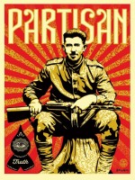 Shepard Fairey and Gary Baseman, Partisan, 2013.