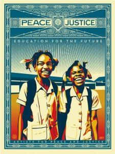 Shepard Fairey, Peace and Justice - Haiti, 2013.