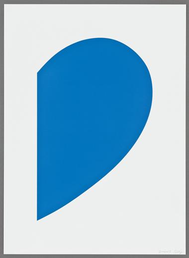 Ellsworth Kelly, Blue Curve, 2013.