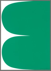 Ellsworth Kelly, Green Curves, 2013.