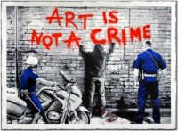 Mr Brainwash, Art is Not a Crime, 2013.