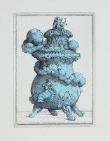 Pablo Bronstein Tea Urn Representing the Creation of the Primordial Gods (Silver), 2013