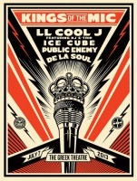 Shepard Fairey, Kings of the Mic, 2013.