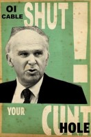 Billy Childish, Vince Cable Royal Mail Sell-off, 2013.