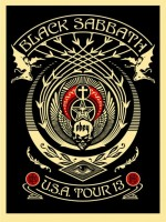 Shepard Fairey, Black Sabbath (Red/Black Crescent), 2013.