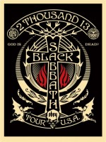 Shepard Fairey, Black Sabbath (Silver/Black Crescent), 2013.