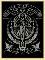 Shepard Fairey, Black Sabbath (Silver/Black Cross), 2013.