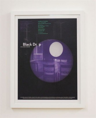 Simon Starling, Black Drop/Oxford (Poster), 2013.