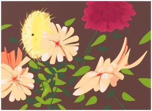Alex Katz - Late Summer Flowers, 2013.