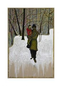 Billy Childish, In the frozen meadow, 2013.