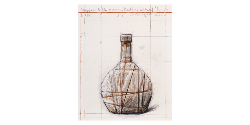 Christo, Wrapped Bottle, 2001/2007