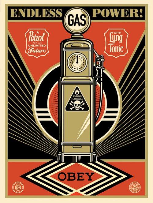 Shepard Fairey, Endless Power, 2013.