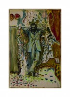 Billy Childish, Man stood by Tomb, 2013.