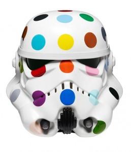 Damien Hirst's Spot Painted Art Wars Stormtrooper Helmet, 2013.