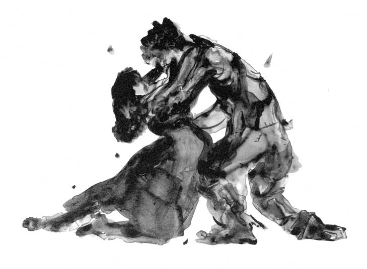Kara Walker, Porgy and Bess, embracing, 2013.