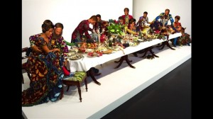 Yinka Shonibare, The Last Supper Exploded, 2013.