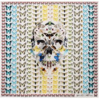 Alexander McQueen & Damien Hirst exclusive Scarf collaboration.