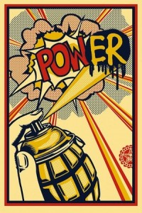 Shepard Fairey, Power, 2013.