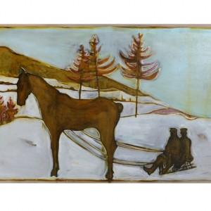 BILLY CHILDISH Seasonal Painting Print – sledge horse